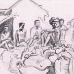 Ouvriers & Sacs de riz_Bardiya