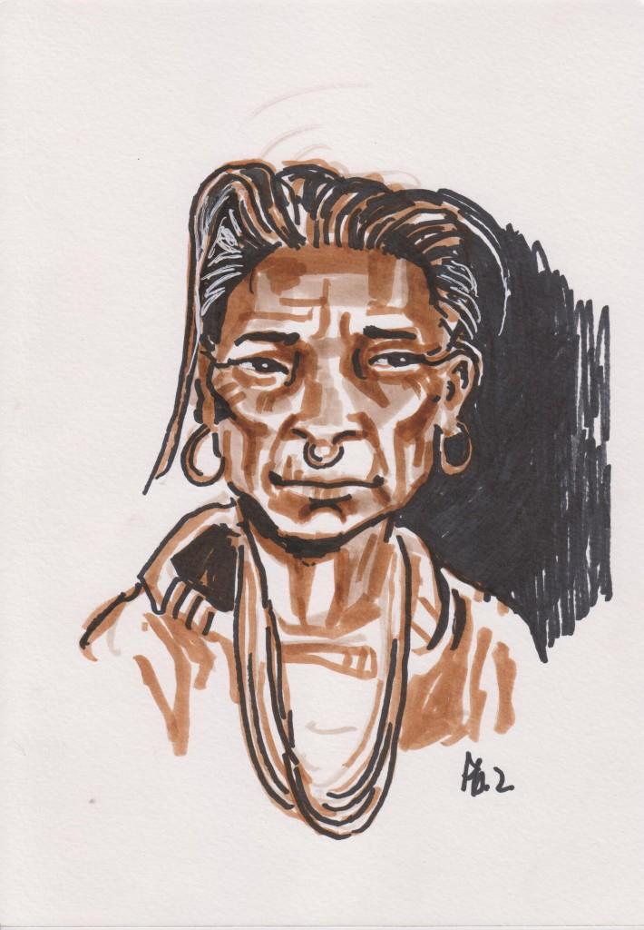 Femme Tamang_Village de Jaméri