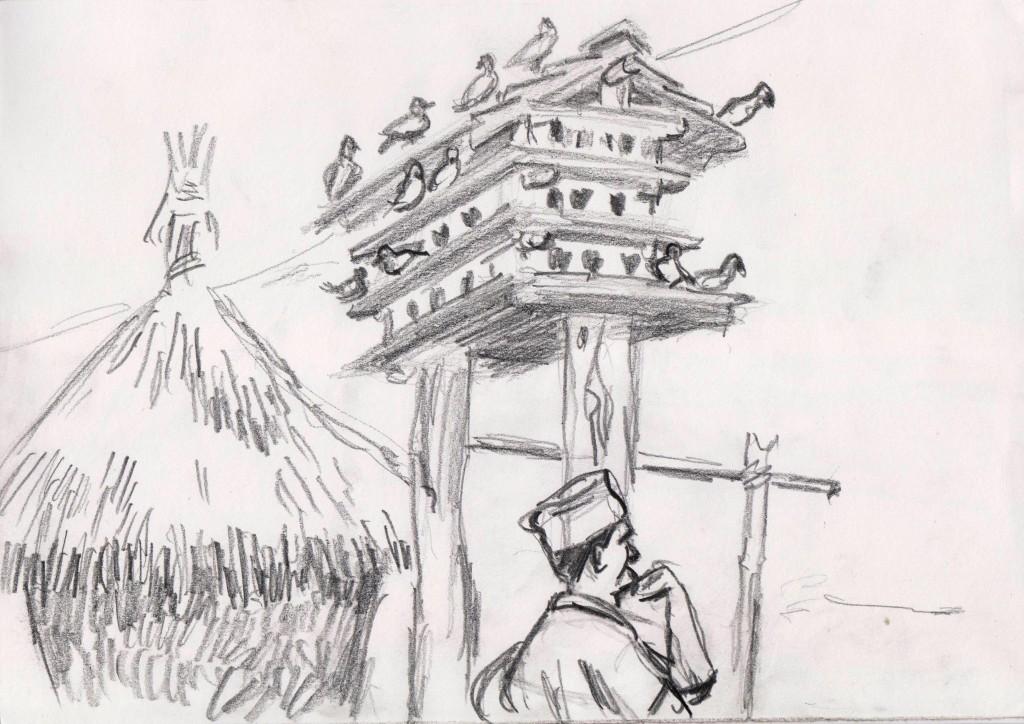 Pigeonier_Village Tharu_Chitwan