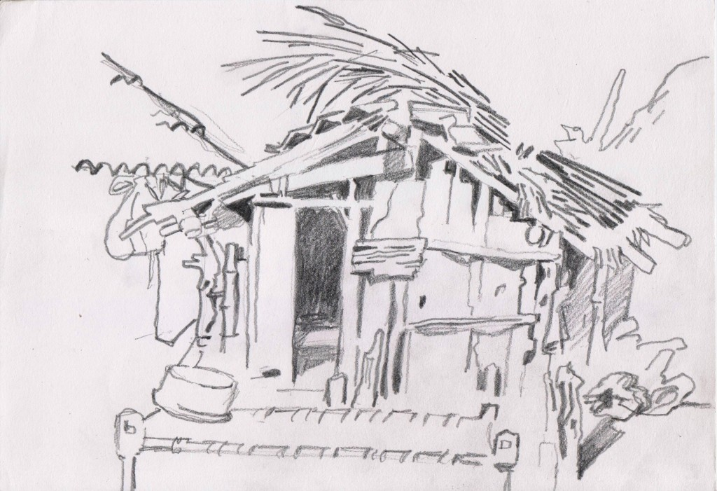 Cabane des chèvres, Bardiya, Népal sud